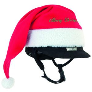 Weihnachtsmütze für Reithelme