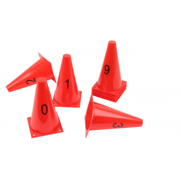Kegelhütchen Set mit Zahlen 0-9